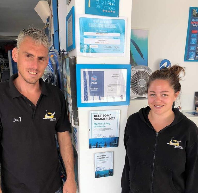 Best Dive Centre Lanzarote and Best Dive Guide for the underwater museum in Playa Blanca