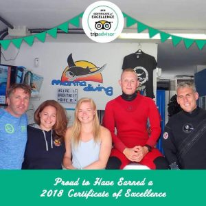 Dive Lanzarote - Dive Centre Lanzarote Receives Certificate of Excellence from TripAdvisor