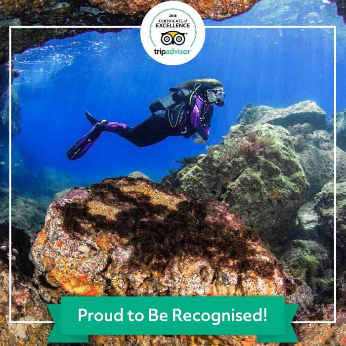 Diving on Lanzarote with Manta Diving Lanzarote - Receives Certificate of Excellence from TripAdvisor