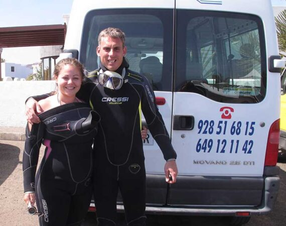 Ben & Rachel - Manta Diving Lanzarote owners