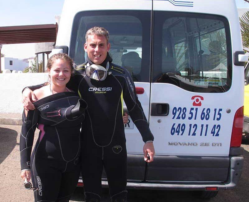 Ben & Rachel - Manta Diving Lanzarote owners