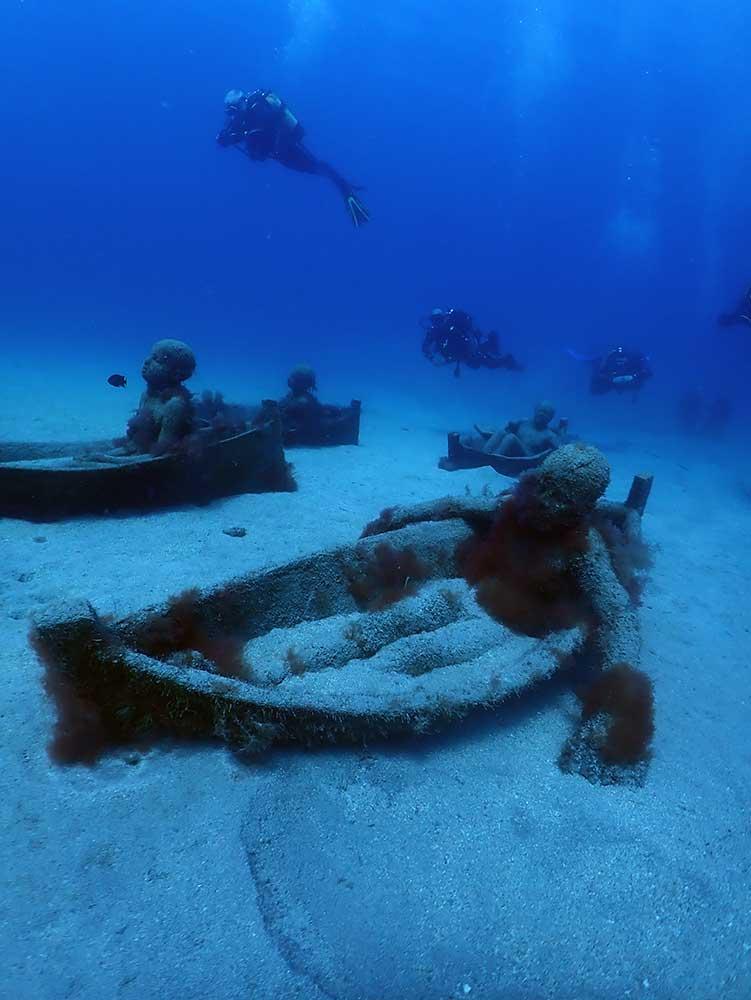 Diving Conditions in Lanzarote in March | Underwater museum playa blanca