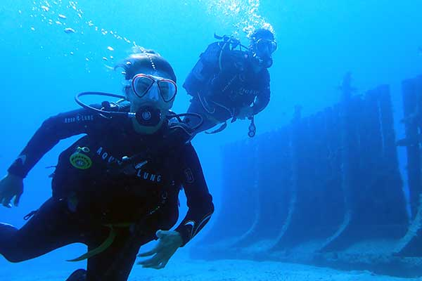 Diving at the underwater museum in Lanzarote with no previous diving experience | Manta Diving Lanzarote