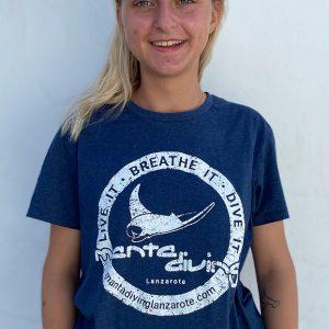 Noemi   Manta diving lanzarote tshirt