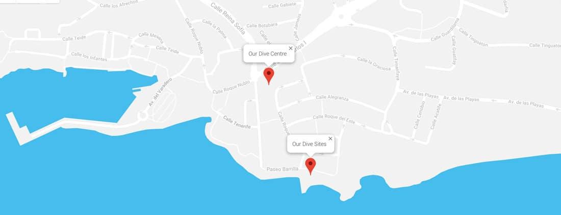 Dive Centre Lanzarote Location - Manta Diving Lanzarote